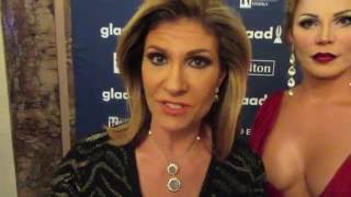 Teresa Rodríguez, Vinna Rouge, Wilnelia Thompson from Univision Aquí y Ahora at GLAAD Media Awards