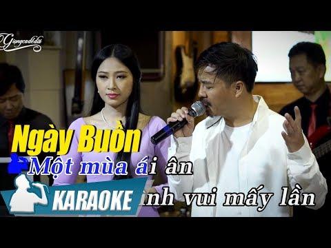 Karaoke Song Ca Ngày Buồn - Quang Lập & Kim Yến | Nhạc Vàng Song Ca Karaoke