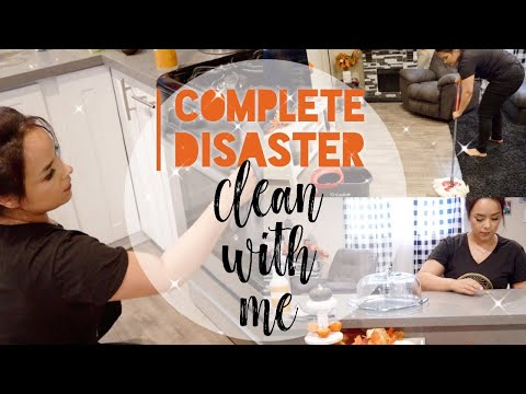 COMPLETE DISASTER CLEAN WITH ME || SPEED CLEANING 🧹🧽