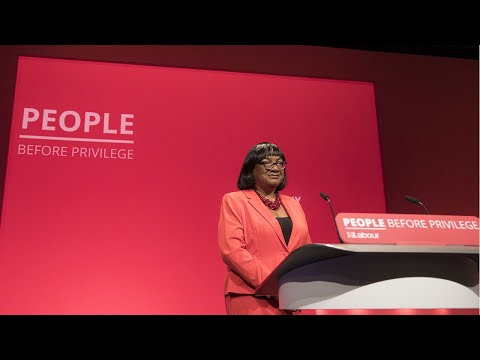 Watch again: MP Diane Abbott speech Labour Party Conferences 2019