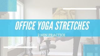 YOGA AT YOUR DESK! | 2 min Office Yoga Stretches | Improve Posture Part 2