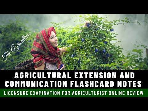 Agricultural Extension and Communication Flashcards Notes