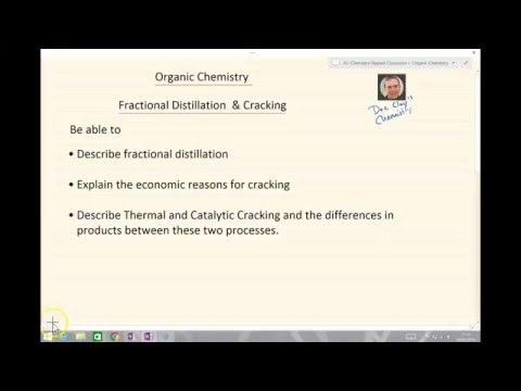AQA A Level Chemistry Fractional distillation & cracking
