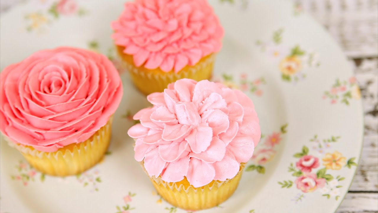 Amazing Buttercream Flower Cupcakes Cake Style Youtube