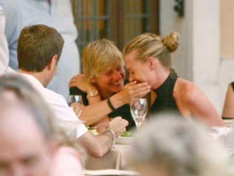 Portia And Ellen Kissing
