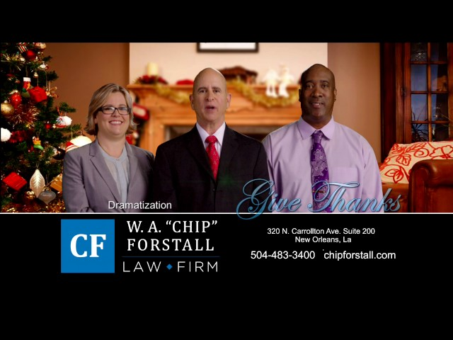 Happy Holidays for Personal Injury Attorney Chip Forstall