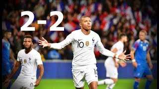 Francia vs Islandia  2-2 Highlights Resumen de Goles