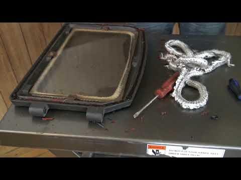 How To Replace Stove Door Rope Gasket