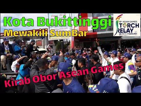Kirab Api Obor Asian Games 2018 Di Arak Keliling Bukittinggi