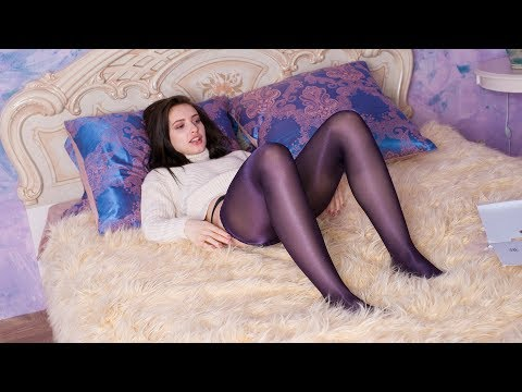 Stacey Top Model Put On Black Tights In Bedroom - Pantyhose Art Magazine 2017-08(2)