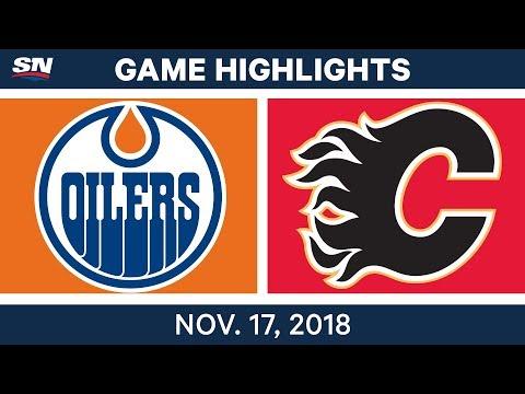 NHL Highlights | Oilers vs. Flames – Nov. 17, 2018