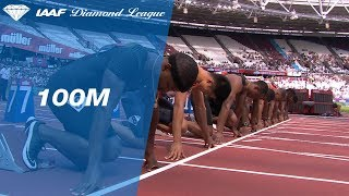 Ronnie Baker 9.90 Wins Men's 100m - IAAF Diamond League London 2018