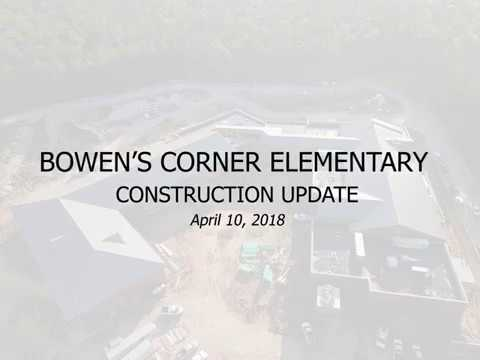 Drone video shows progress on Bowen's Corner Elementary