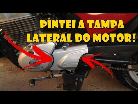 PINTEI A TAMPA DO MOTOR