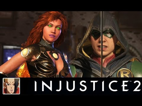 Thumbnail: INJUSTICE 2 - STARFIRE VS TEEN TITANS ALL INTERACTION/INTRO DIALOGUES