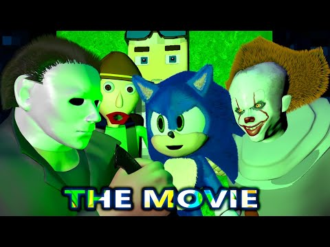PENNYWISE IT Vs BALDI SONIC MICHAEL MYERS HORROR MOVIE! (official) Chapter Minecraft Animation