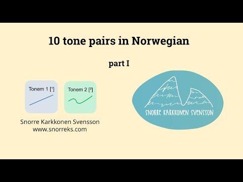 10 tone pairs Norwegian