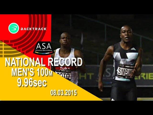 ASA After Dark Series 1   Mens 100m Akani Simbine