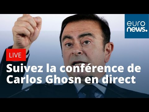 Suivez la conférence de presse de Carlos Ghosn en direct de Beyrouth, Liban