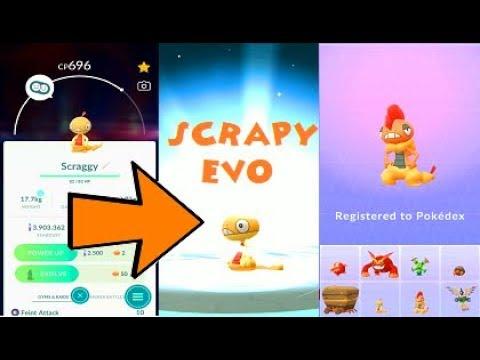 Pokemon Go Scraggy Evolution Into Scrafty