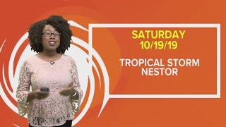 Update on Tropical Storm Nestor, October 19, 2019