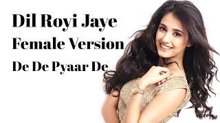 Female Version : Dil Royi Jaye  l De De Pyaar De I Cover I Full Song I Ajay Devgn l Arijit Singh