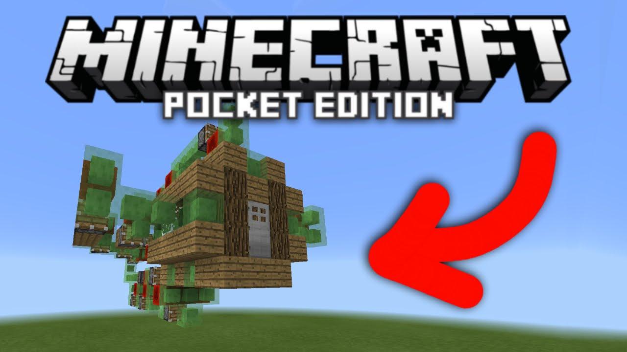 ✔ Flying House in MCPE! Redstone Slimeblock Creation [Minecraft PE  8.8.8/8.8.8]