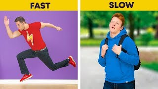 Fast vs Slow People / 19 Funny Situations That Everyone Can Relate To