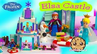 Queen Elsa Sparkling Ice Castle Disney Frozen Princess Anna Olaf Snowman Lego Playset Unboxing Video
