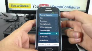 Como cambiar ringtone a samsung Galaxy s3 mini i8190 español Full HD