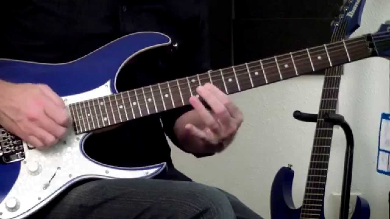 8 String Guitar >> Ibanez RG550XH Demo Blue Sparkle BSP 30 Fret Electric Guitar - YouTube
