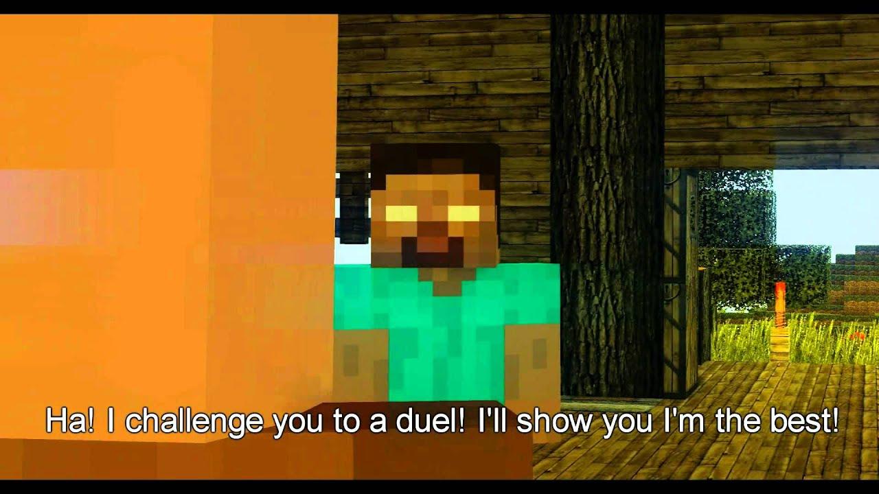 Redstone Cinemas Minecraft Shorts: Notch vs. Herobrine ...