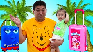 Baby Maddie Pretend Play with Luggage Suitcase Toys | Fun Vacation Travel Toy for Kids