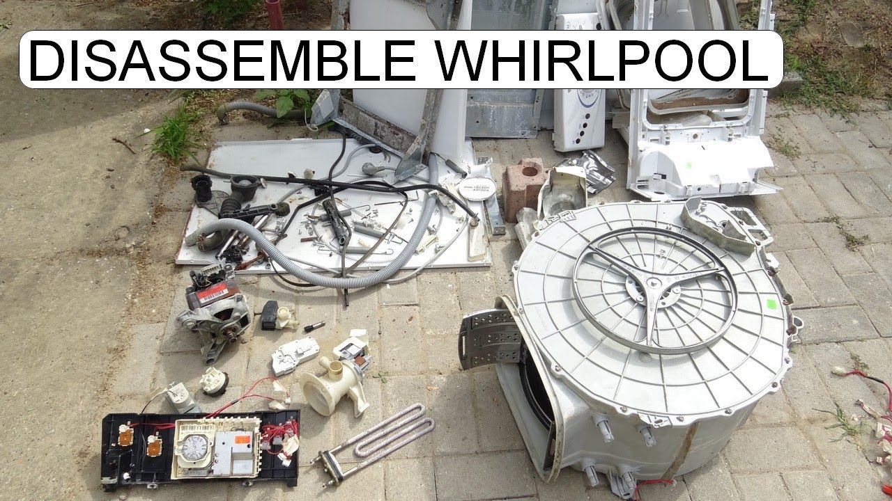 DISASSEMBLE WHIRPOOL AWT 5109 WASHING MACHINE TOPLOADER