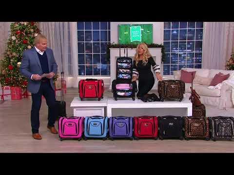 Weekender Bag w Snap in Toiletry Bag by Lori Greiner on QVC