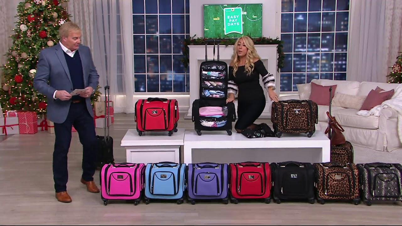 Weekender Bag W Snap In Toiletry Bag By Lori Greiner On Qvc Youtube
