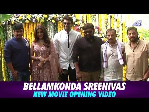 Bellamkonda Sreenivas New Movie Opening Video | Nabha Natesh | Santosh Srinivas | E3 Talkies