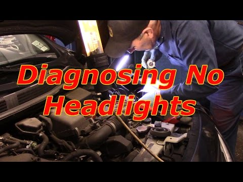 How to diagnose and repair no headlights on a 2013 nissan versa