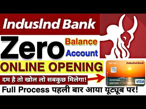 Zero balance Opening Online IndusInd bank full process || How to open Zero balance Account online🔥