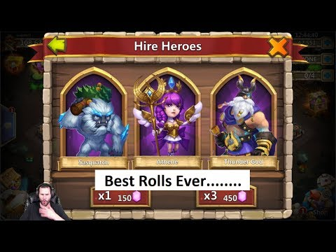 Best Rolling Session Of ALL TIME Absolutely INSANE Castle Clash