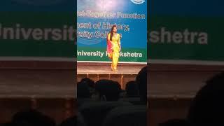    KURUKSHETR UNIVERSITY    GIRL BEST DANCE EVER