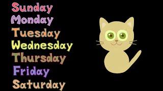 Days of the Week Spelling w/ Cute Dancing Kitten - The Kids