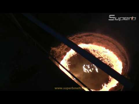 50t induction steel melting furnace working on site