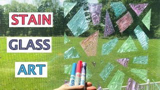 Stain Glass Window: Crystal Effects Window Markers vs Window Markers Plus Cleaning Tips