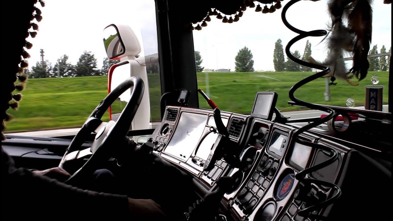 RMC Trans optrekken Scania 164 480 V8 open pijp - YouTube