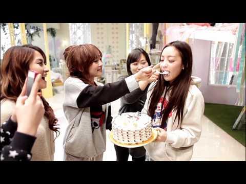 Hara's Birthday from KARA Girls Power ガールズパワー MV Behind The Scene