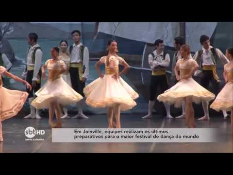 Em Joinville, equipes realizam os últimos preparativos para festival de dança