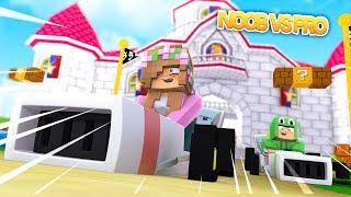 NOOB VS PRO | Mario Kart | BROTHER VS SISTER | Minecraft Little Kelly