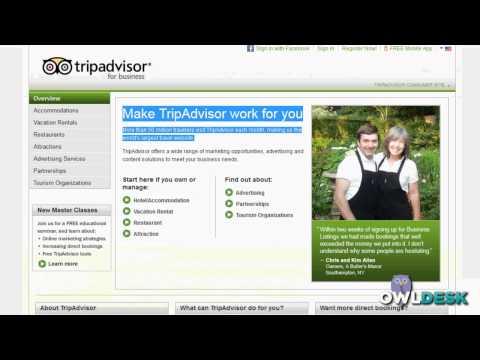 TripAdvisor:  Business account