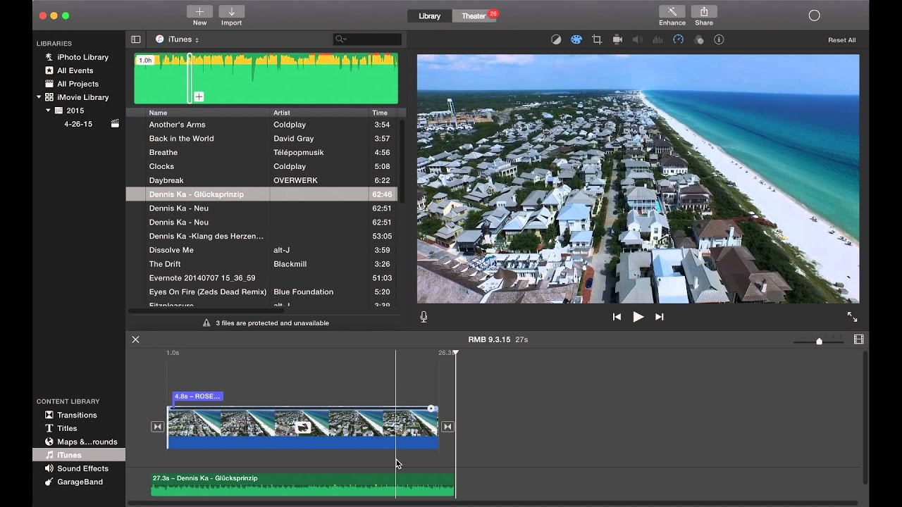 Imovie  How To Edit Footage From The Dji Inspire 1